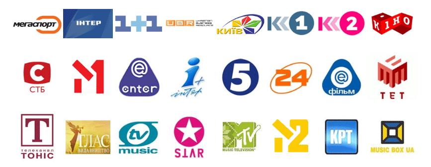 Украинские телевизионные каналы